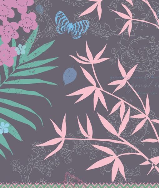 Bambusblätter, Palmblatt, Kirchen Blumen, Schmetterling