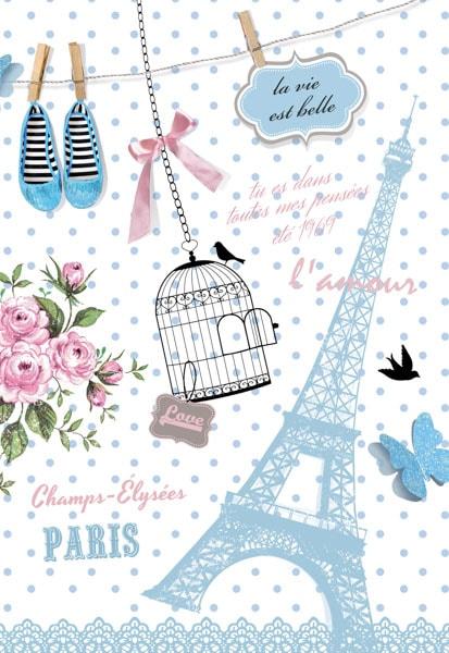 Rosen, Vogelkäfig, Vögelchen, Eiffelturm, l'amour, la vie est belle