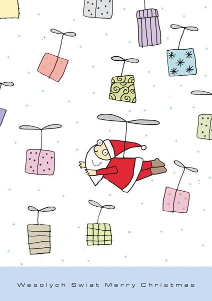 Fliegende Geschenke und ein fliegender Weihnachtsmann