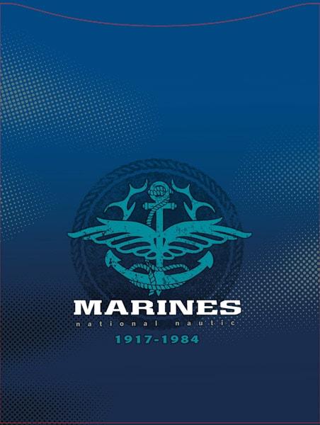 Marines Zeichen für einen Schulranzen