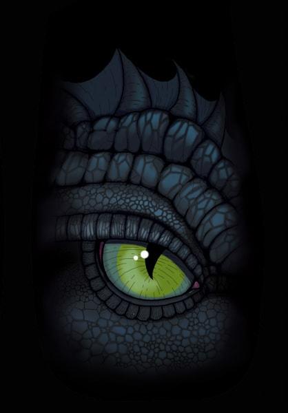 Auge eines Draches.