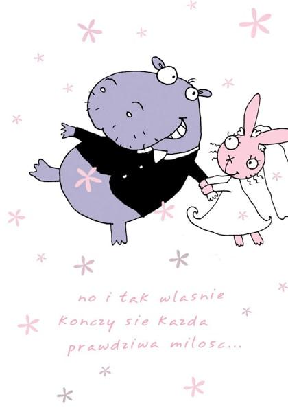 Ein Nilpferd und ein süßes Häschen heiraten