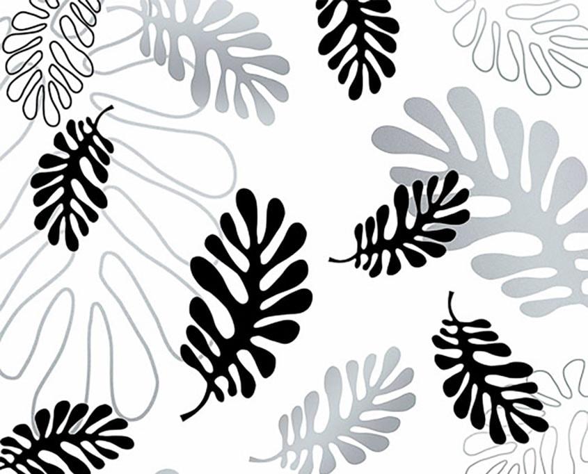 Silberne und schwarze Blätter